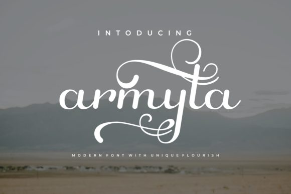 Print on Demand: Armyta Script & Handwritten Font By yunitaecy