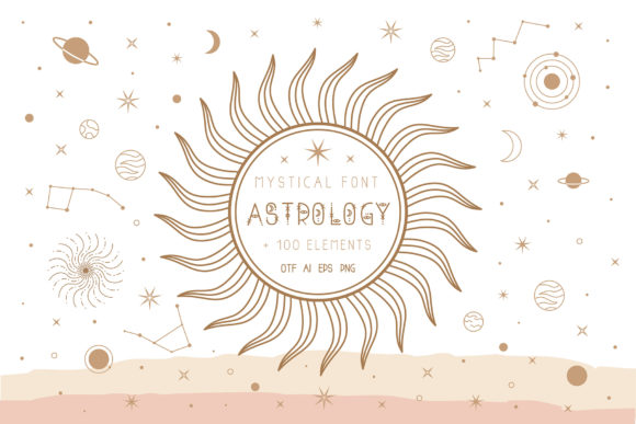 Print on Demand: Astrology Display Font By Juliya Kochkanyan - Image 1