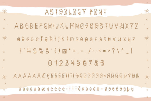 Print on Demand: Astrology Display Font By Juliya Kochkanyan - Image 2