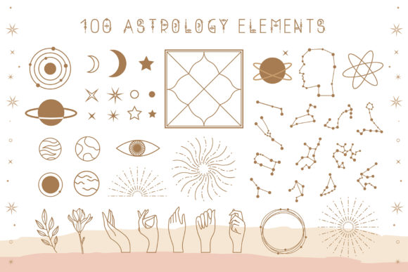 Print on Demand: Astrology Display Font By Juliya Kochkanyan - Image 3