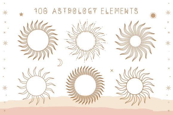 Print on Demand: Astrology Display Font By Juliya Kochkanyan - Image 4
