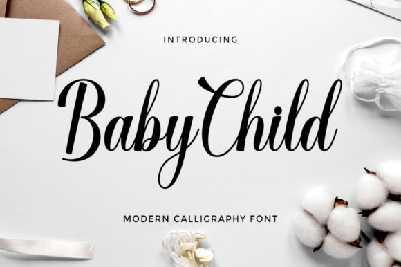 Print on Demand: Baby Child Script & Handwritten Font By letterfreshstudio