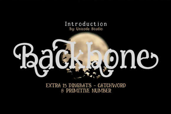 Print on Demand: Backbone Display Font By Unicode Studio