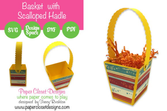 Print on Demand: Basket with Scallope Handle Graphic 3D SVG By rushton_tracy