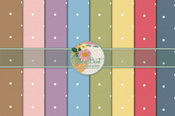 Print on Demand: Beary Happy New Year Dot Papers Graphic Backgrounds By QueenBrat Digital Designs