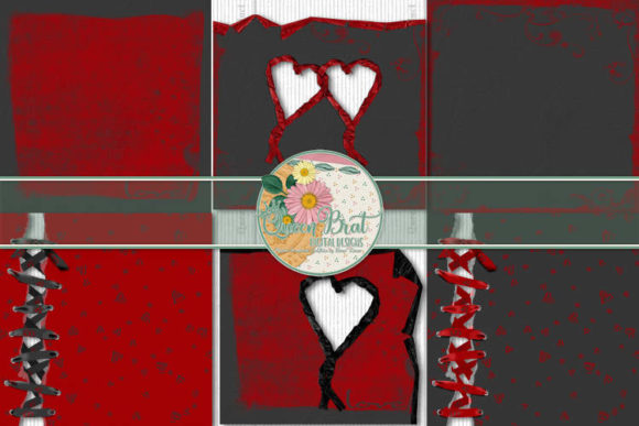 Print on Demand: Because U Love Me Edge Papers Graphic Backgrounds By QueenBrat Digital Designs
