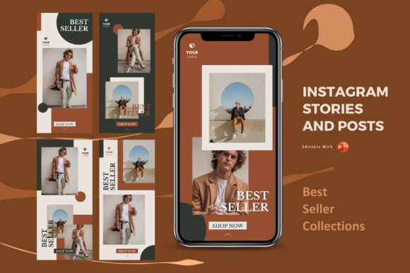 Print on Demand: Best Seller Instagram Stories and Posts Graphic Presentation Templates By rivatxfz