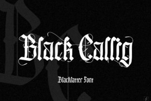 Print on Demand: Black Callig Blackletter Font By wallby.hand