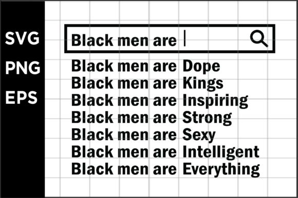 Black Men Are Graphic Crafts By spoonyprint