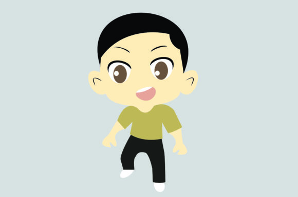 Boy Chibi Character Vector 1 Graphic Illustrations By harunikaart