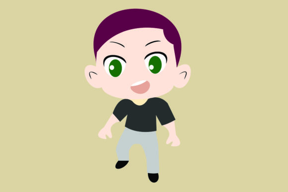 Boy Chibi Character Vector 2 Graphic Illustrations By harunikaart