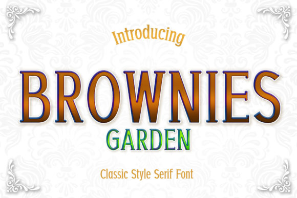 Print on Demand: Brownies Garden Serif Font By numnim