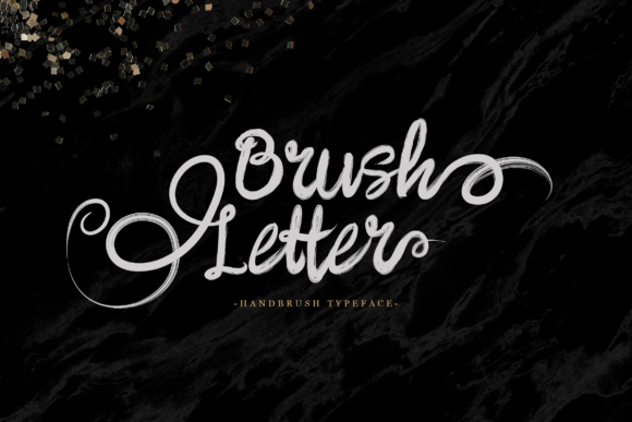 Print on Demand: Brush Letter Script & Handwritten Font By Unicode Studio
