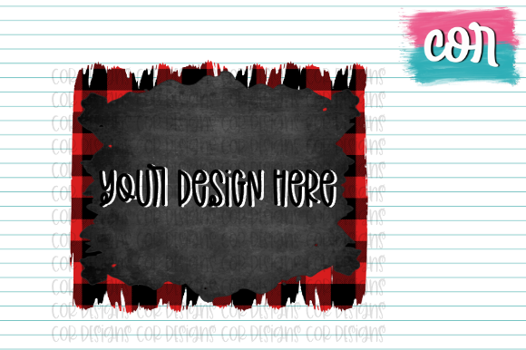 Print on Demand: Buffalo Plaid & Chalkboard Brush Strokes Graphic Crafts By designscor