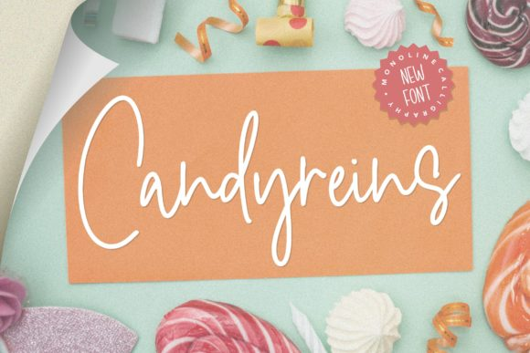 Print on Demand: Candyreins Script & Handwritten Font By Balpirick