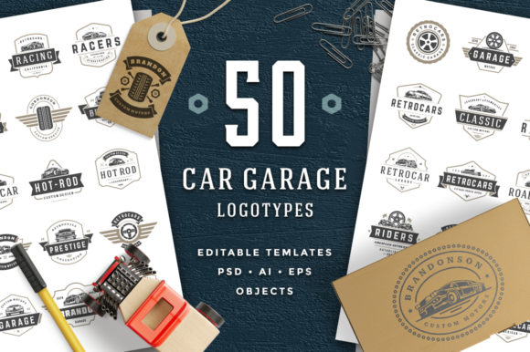 Car Garage Badges & Logos Graphic Logos By vasyako1984