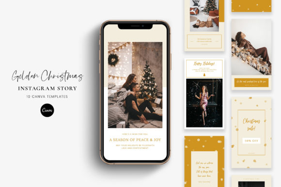Christmas Instagram Stories - Canva Graphic Graphic Templates By StylishDesign