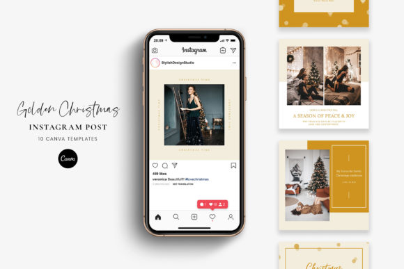 Christmas Instagram Posts - Canva Graphic Graphic Templates By StylishDesign