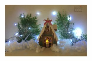Christmas House Graphic 3D Christmas By patrizia.moscone