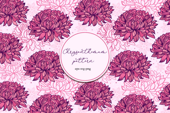 Chrysanthemums. Seamless Pattern. Graphic Patterns By fatamorganaoptic