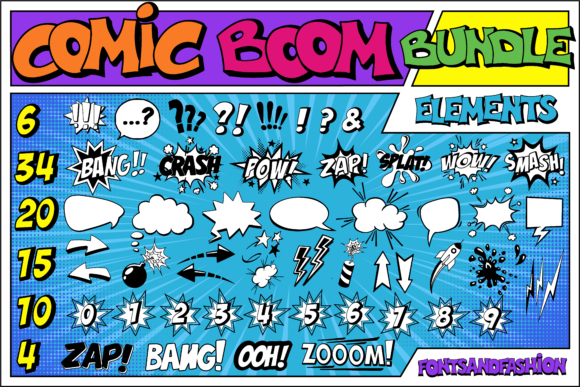 Print on Demand: Comic Boom Display Font By Fontsandfashion - Image 2