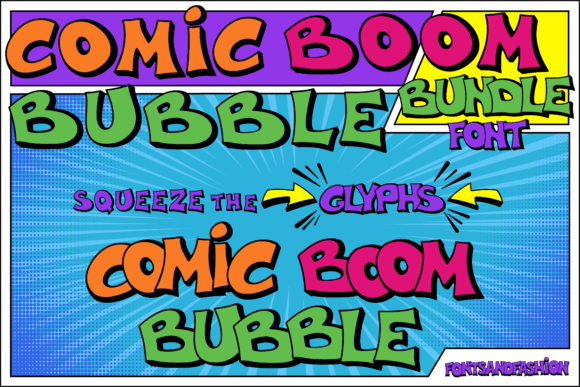 Print on Demand: Comic Boom Display Font By Fontsandfashion - Image 3