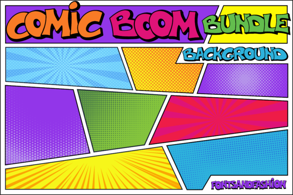 Print on Demand: Comic Boom Display Font By Fontsandfashion - Image 4