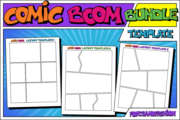 Print on Demand: Comic Boom Display Font By Fontsandfashion - Image 5