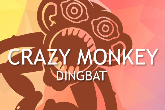Print on Demand: Crazy Monkey Dingbats Font By vladimirnikolic