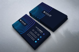 Print on Demand: Creative Blue Business Card Graphic Print Templates By medelwardi