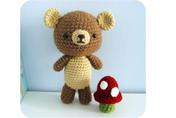 Crochet Bear and Mushroom Pattern Set Graphic Crochet Patterns By Amy Gaines Amigurumi Patterns