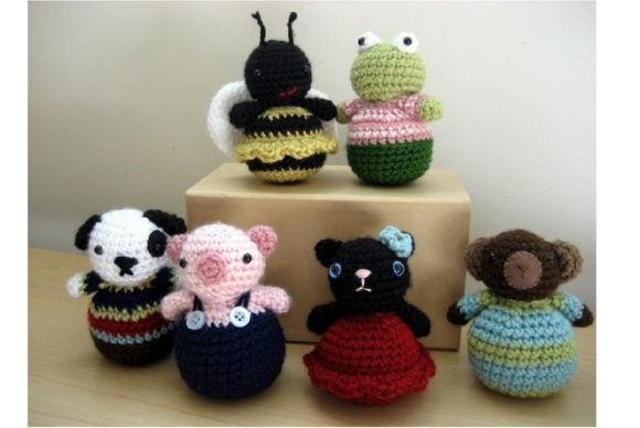 Crochet Roly-Poly Animal Pattern Graphic Crochet Patterns By Amy Gaines Amigurumi Patterns