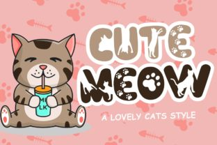 Print on Demand: Cute Meow Display Font By HansCo