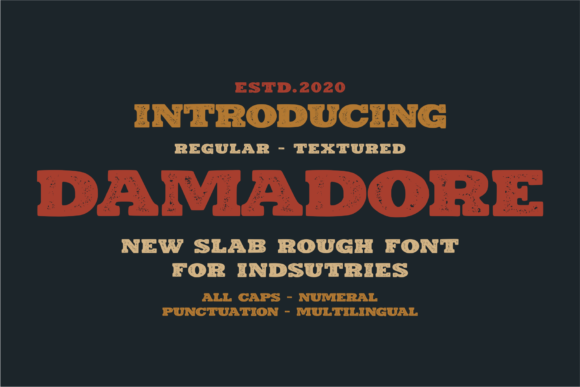Print on Demand: Damadore Display Font By 24Design Studios