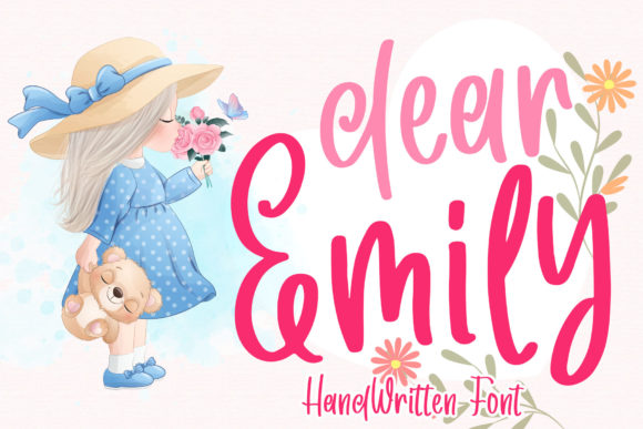Print on Demand: Dear Emily Script & Handwritten Font By dmletter31