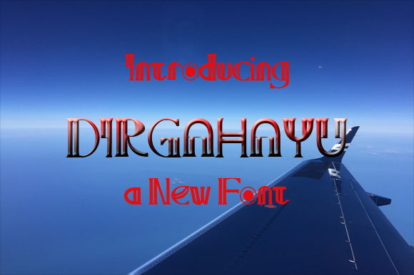 Print on Demand: Dirgahayu Display Font By ZultypeFonter