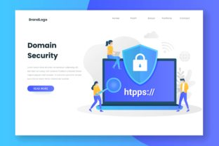 Domain Security Landing Page Graphic Illustrations By HengkiL
