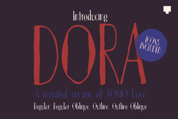 Print on Demand: Dora Sans Serif Font By TOMO Fonts
