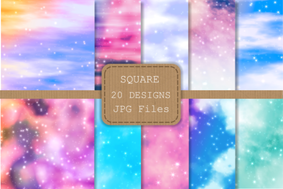 Print on Demand: Dreamy Skies Digital Papers Graphic Backgrounds By Prawny - Image 2