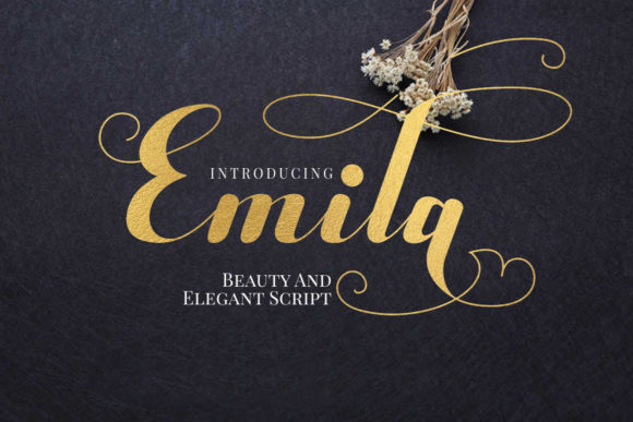Print on Demand: Emila Script & Handwritten Font By yunitaecy