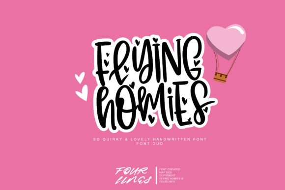 Print on Demand: Flying Homies Script & Handwritten Font By Fourlines.design