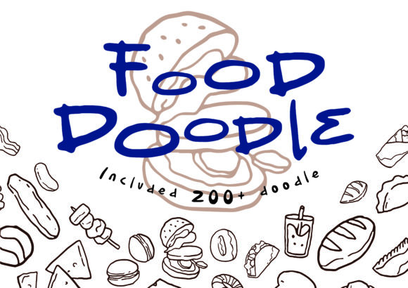 Food Doodle Hand Drawn Icon | FOODLE Graphic Icons By Randoezim