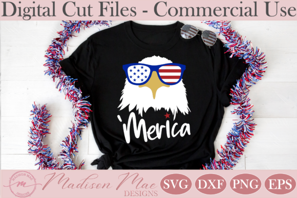 Fourth of July Amercian Eagle Graphic Crafts By Madison Mae Designs