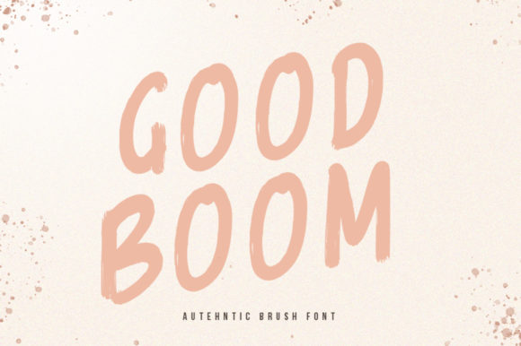 Print on Demand: Goodboom Display Font By vultype