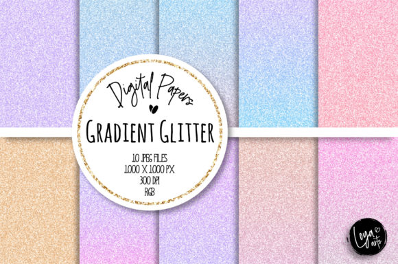 Print on Demand: Gradient Fantasy Glitter Patterns Graphic Patterns By loyaarts