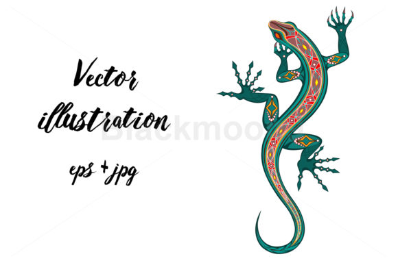 Green Lizard Graphic Illustrations By Blackmoon9