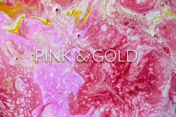 Print on Demand: Handmade Liquid Paint - Pink & Gold Vol.2 Graphic Abstract By PandoraDreams