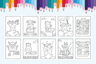 Print on Demand: Happy Coloring Book 12 - Monsters Graphic Coloring Pages & Books Kids By Momentos Crafter 2