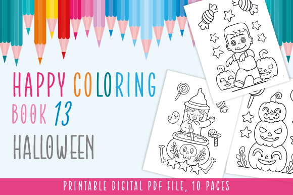 Print on Demand: Happy Coloring Book 13 - Halloween Graphic Coloring Pages & Books Kids By Momentos Crafter