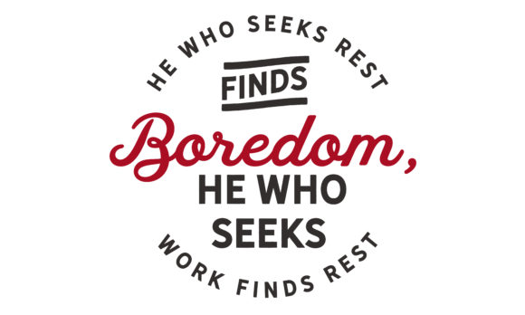 Print on Demand: He Who Seeks Rest Finds Boredom Graphic Illustrations By baraeiji